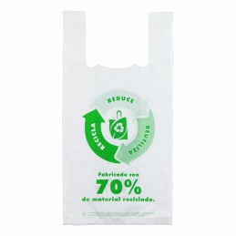 BOLSA ASA 35 X 50 BLANCA reutilizable PQ/1KG reciclada