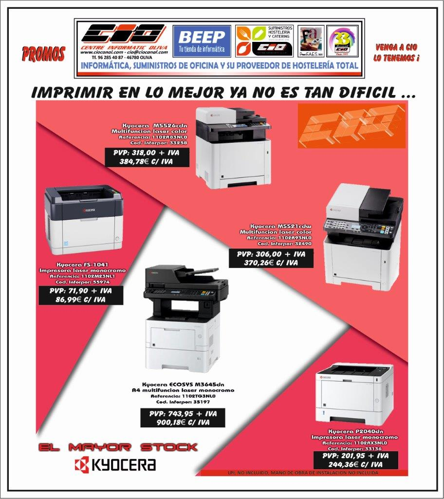 Promoción impresoras Kyocera