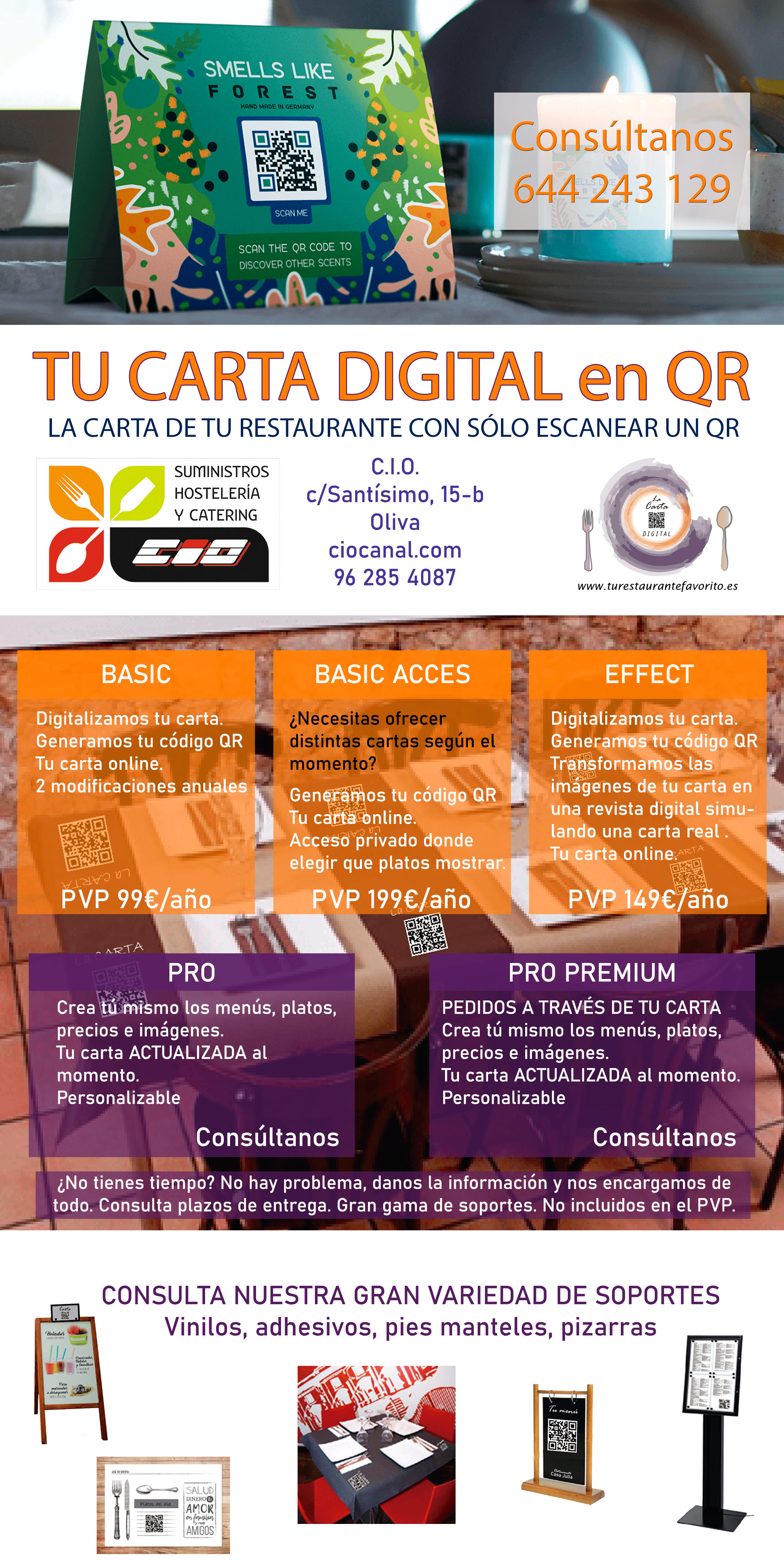 Carta digital para tu restaurante