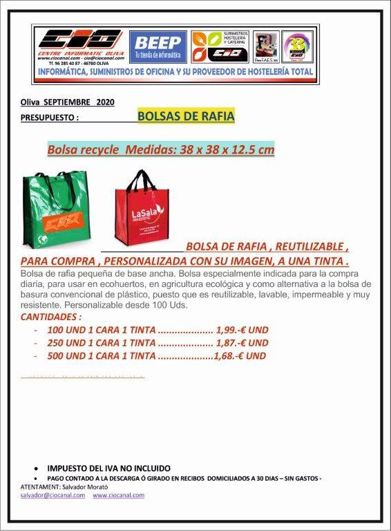 BOLSAS RAFIA ESTAMP 1T