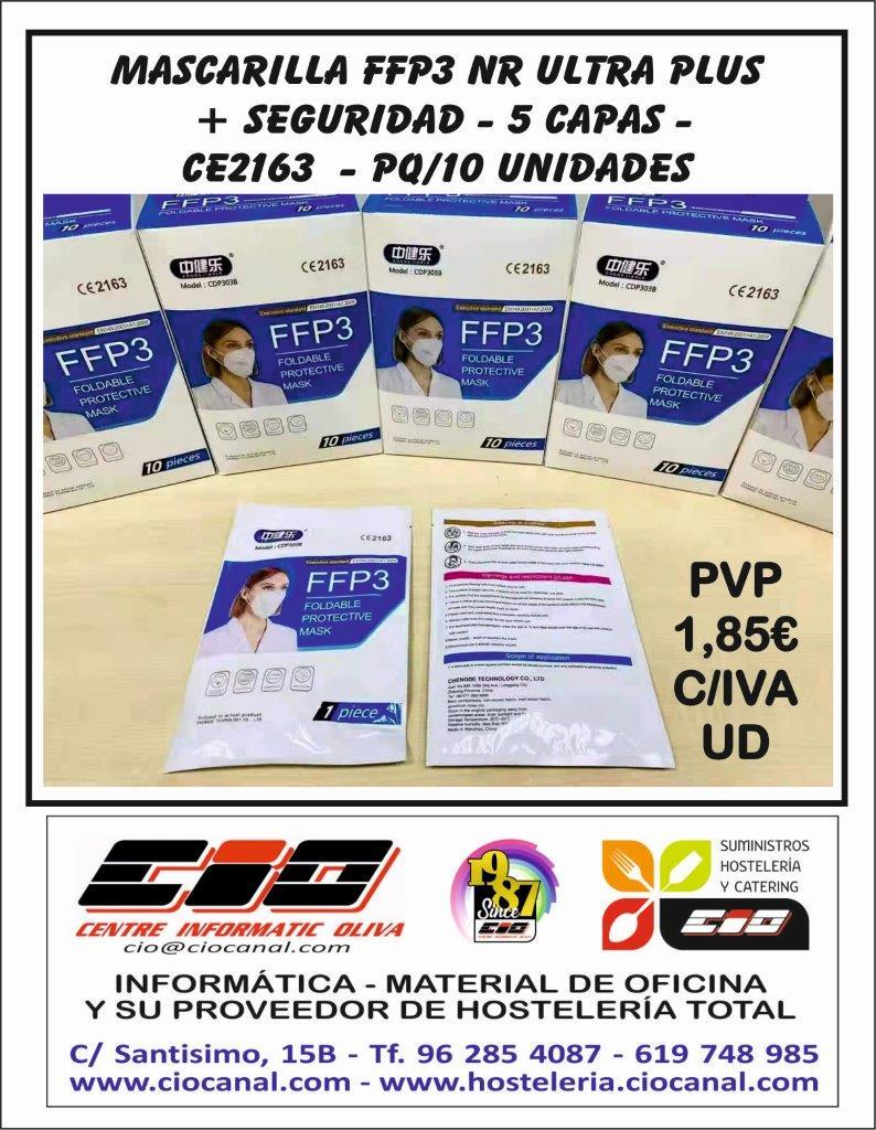 Mascarillas FFP3 NR Ultra Plus