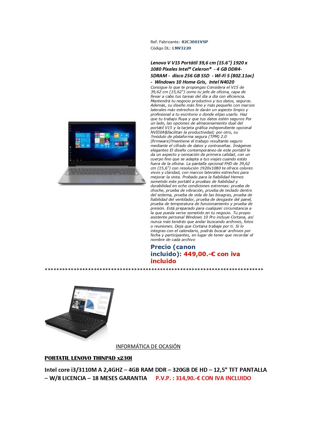 Promoción en PC portátiles