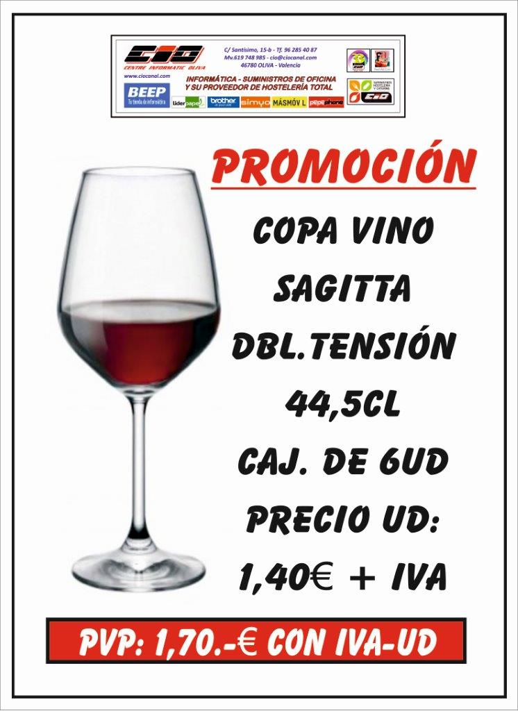 copa de vino saggita